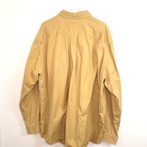Carhartt Shirts - Carhartt men's Khaki Heavy-weight Button-up Shirt